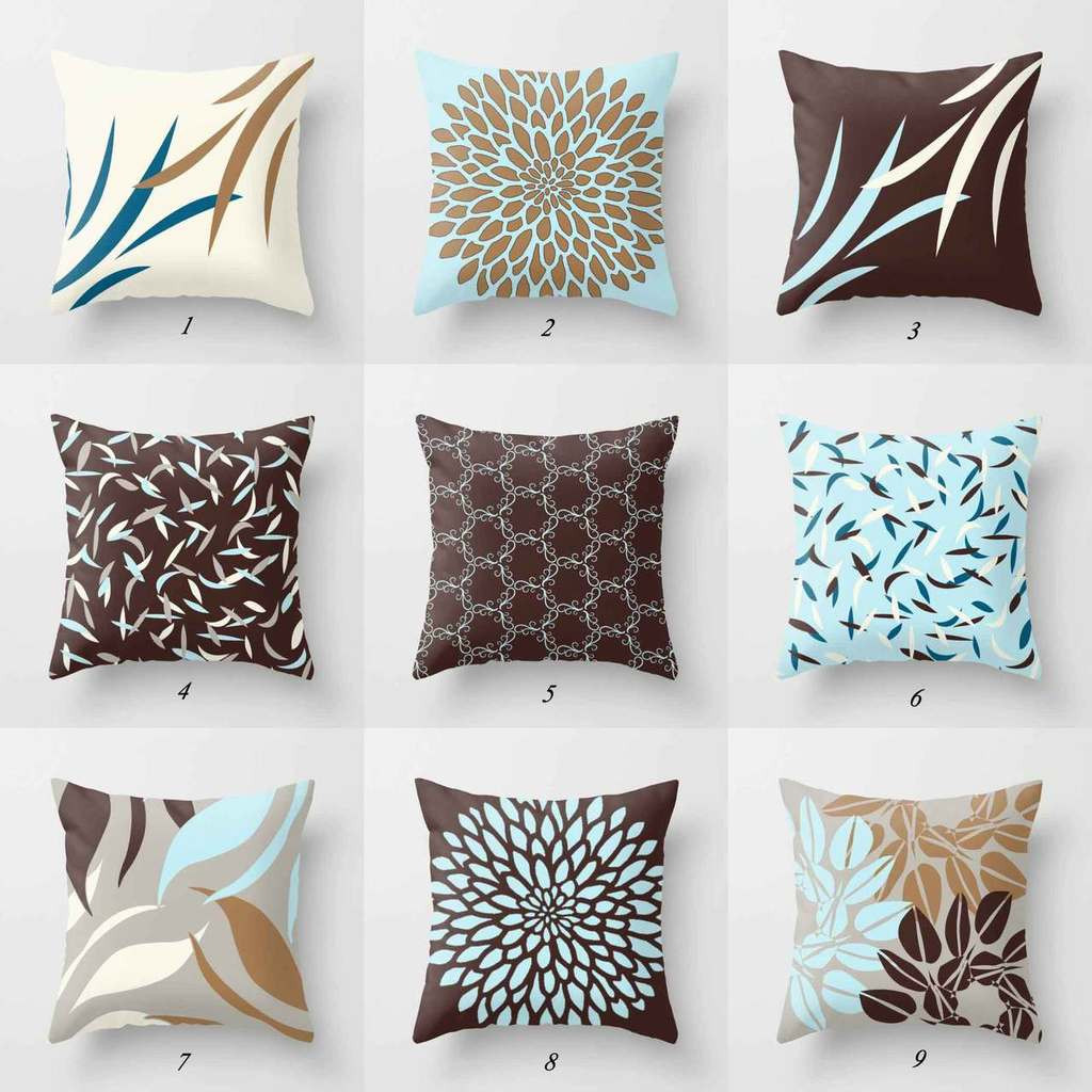 Awesome Blue and Brown Throw Pillow Covers Patterned Throw Of Amazing 40 Photos Patterned Throw