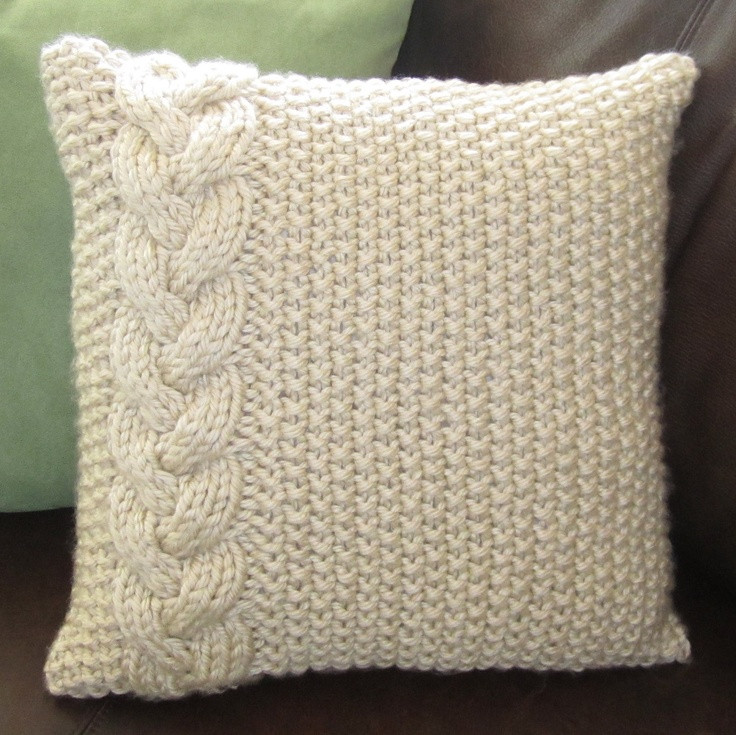 Awesome Braided Cable Chunky Hand Knit Pillow Cover Knit Pillow Cover Pattern Of Amazing 45 Pics Knit Pillow Cover Pattern