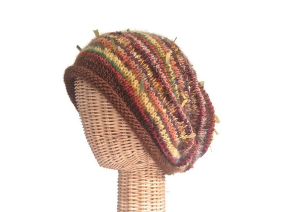 Awesome Brown Knit Slouchy Hat Rolled Brim Wool Stocking Cap E Size Knit Stocking Cap Of Fresh 40 Pictures Knit Stocking Cap