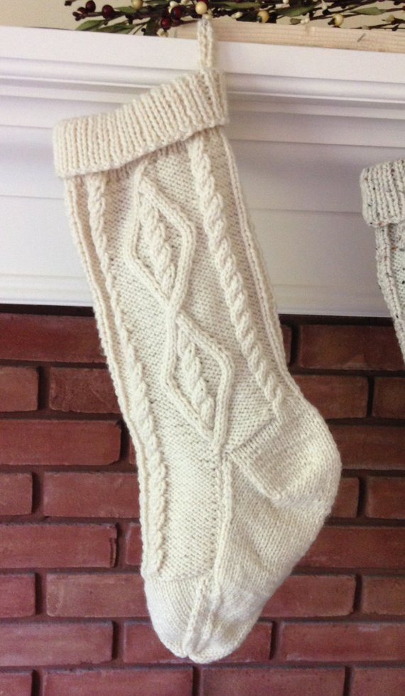 Awesome Cable Knit Stocking Pattern Fisherman Knit Christmas Knit Stocking Pattern Of Attractive 47 Pictures Knit Stocking Pattern