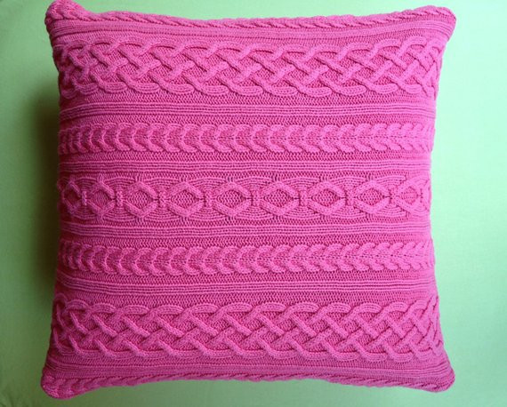Awesome Cable Knit Sweater Pillow Cover Bright Pink Cable Knit Pillow Cover Of Top 41 Pictures Cable Knit Pillow Cover