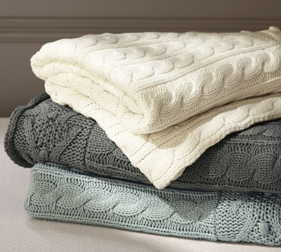 Awesome Cable Knit Throw Cotton Knit Blanket Of Innovative 42 Models Cotton Knit Blanket