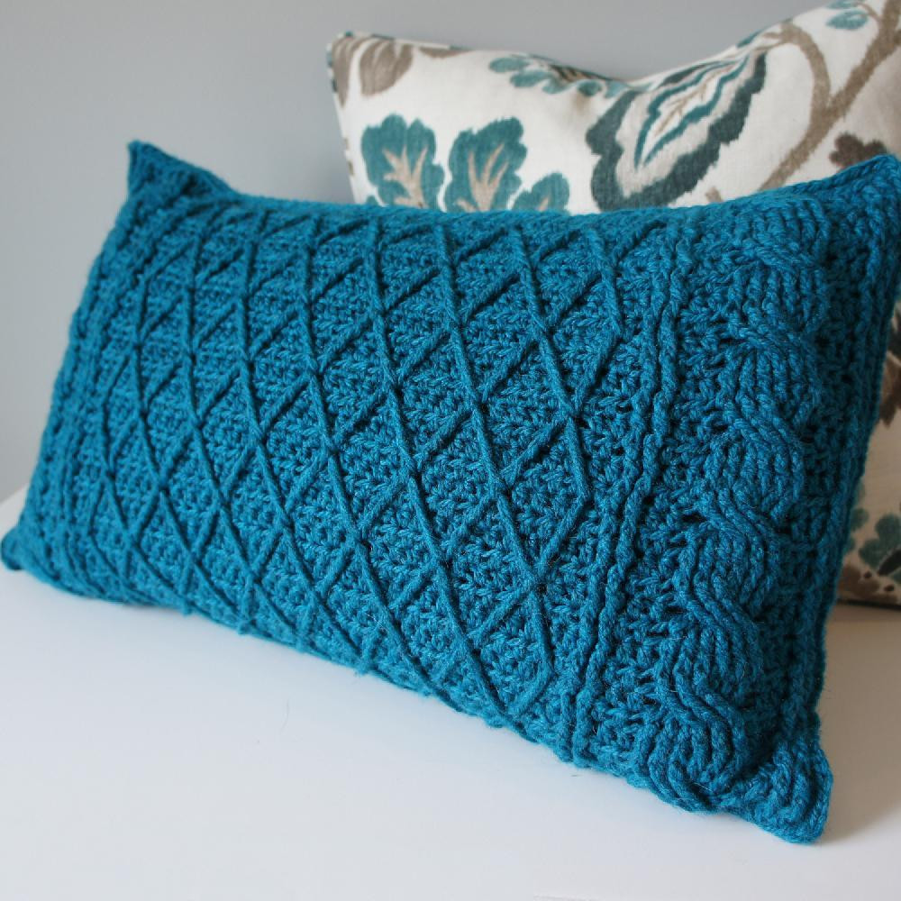 Awesome Cables & Lattice Pillow Cover Crochet Pillow Patterns Of New 49 Models Crochet Pillow Patterns
