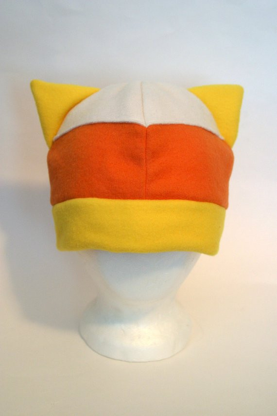 Awesome Candy Corn Kitty Fleece Hat Candy Corn Hat Of Incredible 42 Pictures Candy Corn Hat