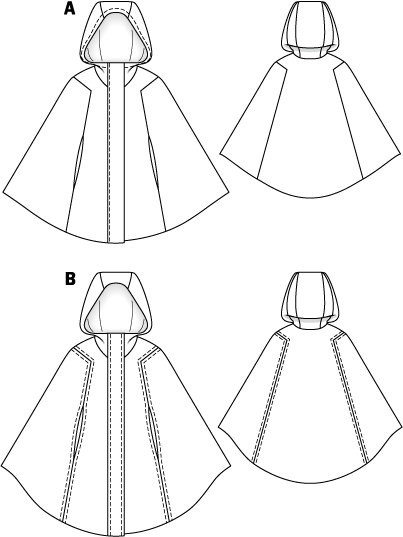 Awesome Cape with Hood 10 2011 101 – Sewing Patterns Hooded Cape Pattern Of Great 42 Pictures Hooded Cape Pattern