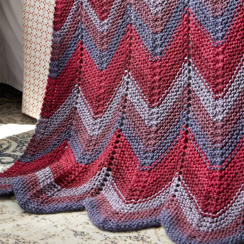 Awesome Caron Tea Cakes™ Zig Zag Knit Afghan Caron Tea Cakes Patterns Of Incredible 46 Pics Caron Tea Cakes Patterns