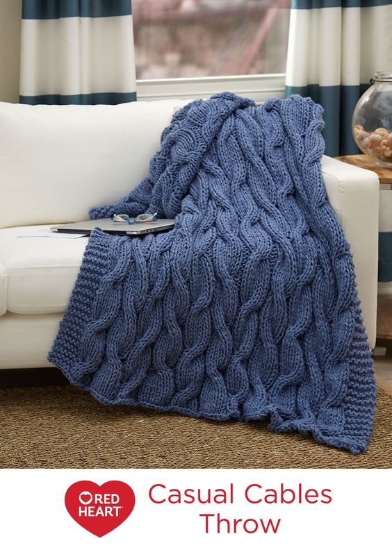 Awesome Casual Cables Throw Free Knitting Pattern In Red Heart Red Heart Bulky Yarn Of Fresh 50 Pictures Red Heart Bulky Yarn