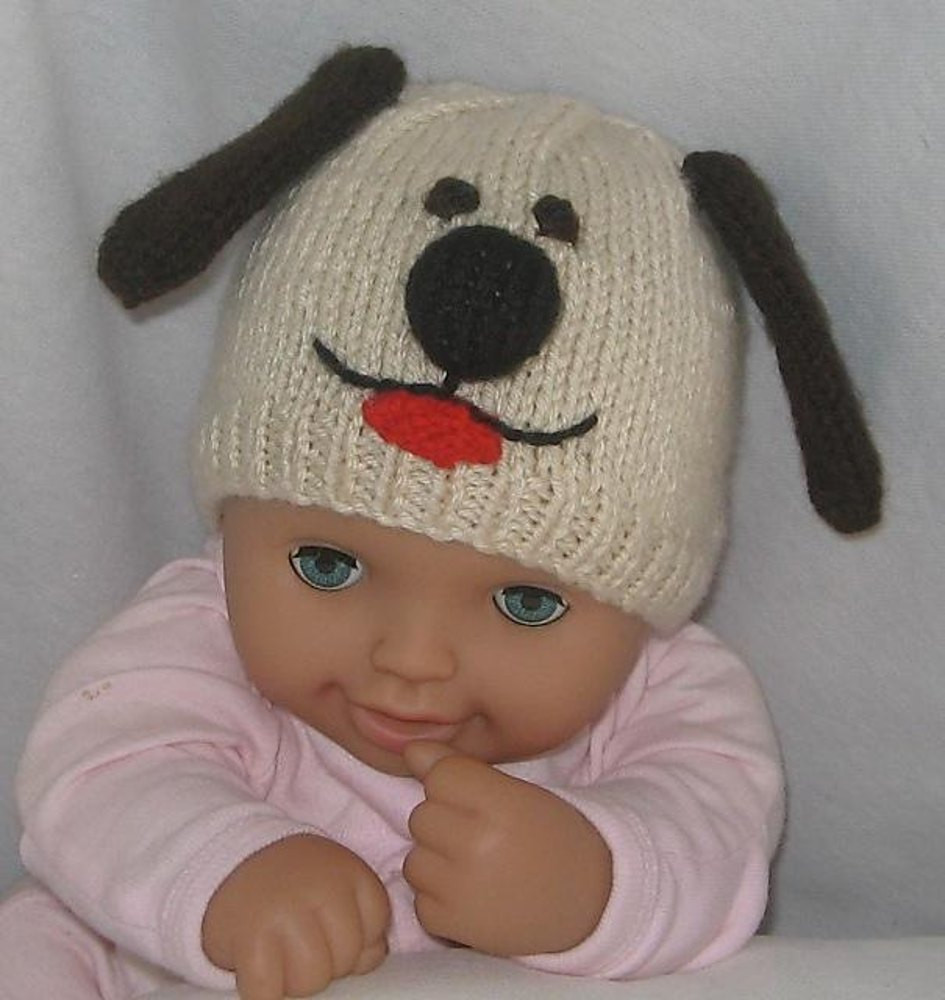 Cat & Dog Beanies Hats Knitting pattern by Rian Anderson