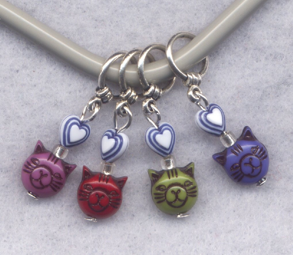 Awesome Cat Knitting Stitch Markers Cat Person Kitten Kitty Love Knitting Stitch Markers Of Gorgeous 48 Models Knitting Stitch Markers