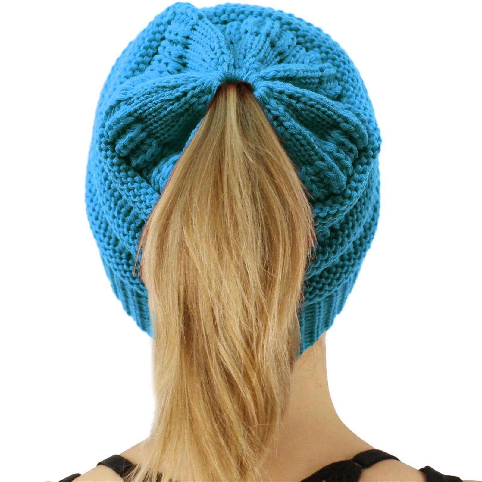 Awesome Cc Beanietail Messy High Bun Ponytail Stretchy Knit Beanie Ponytail Winter Hat Of Incredible 45 Pictures Ponytail Winter Hat