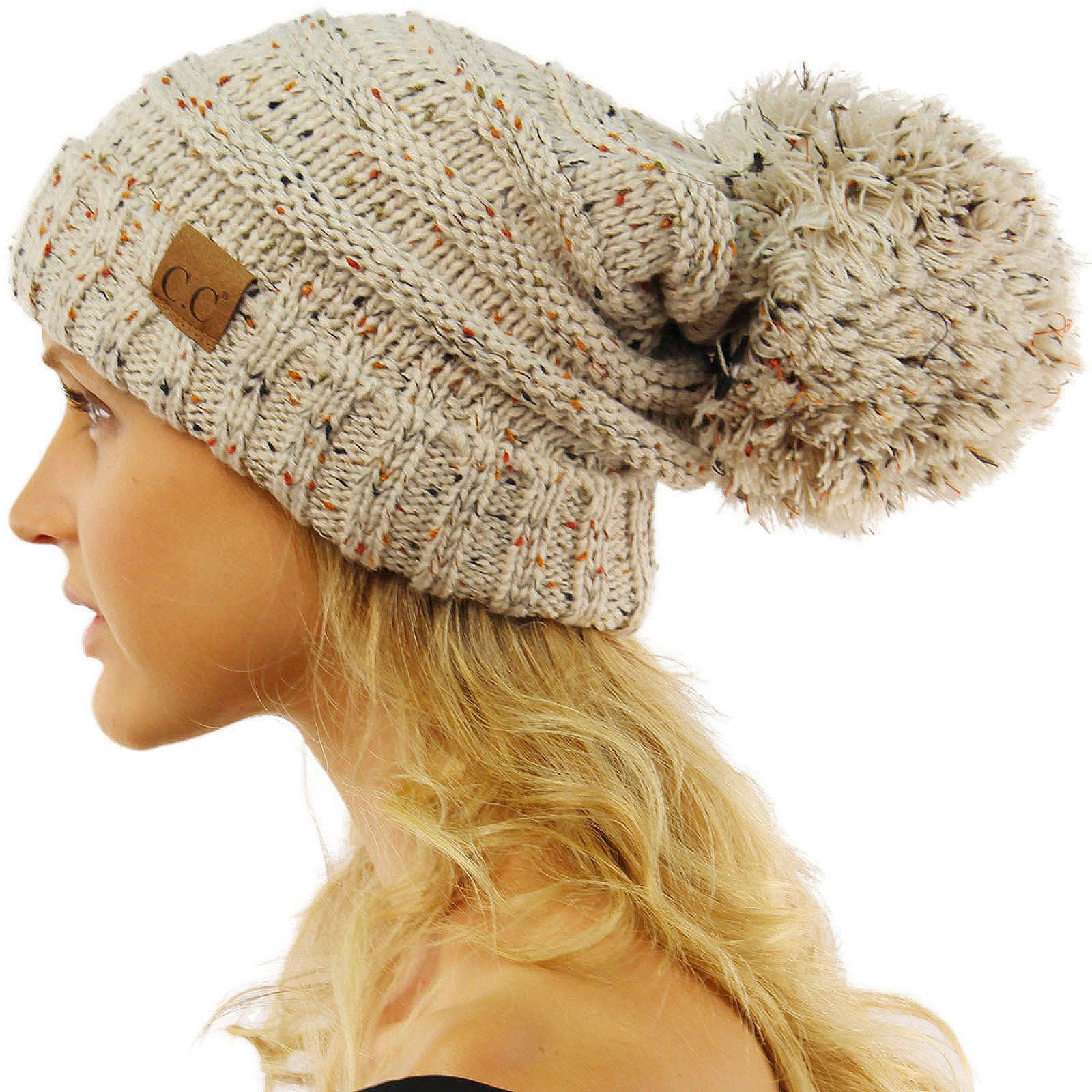 Awesome Cc Confetti Super Big Slouchy Pom Pom Warm Chunky Stretchy Chunky Knit Hat Of Delightful 46 Pictures Chunky Knit Hat
