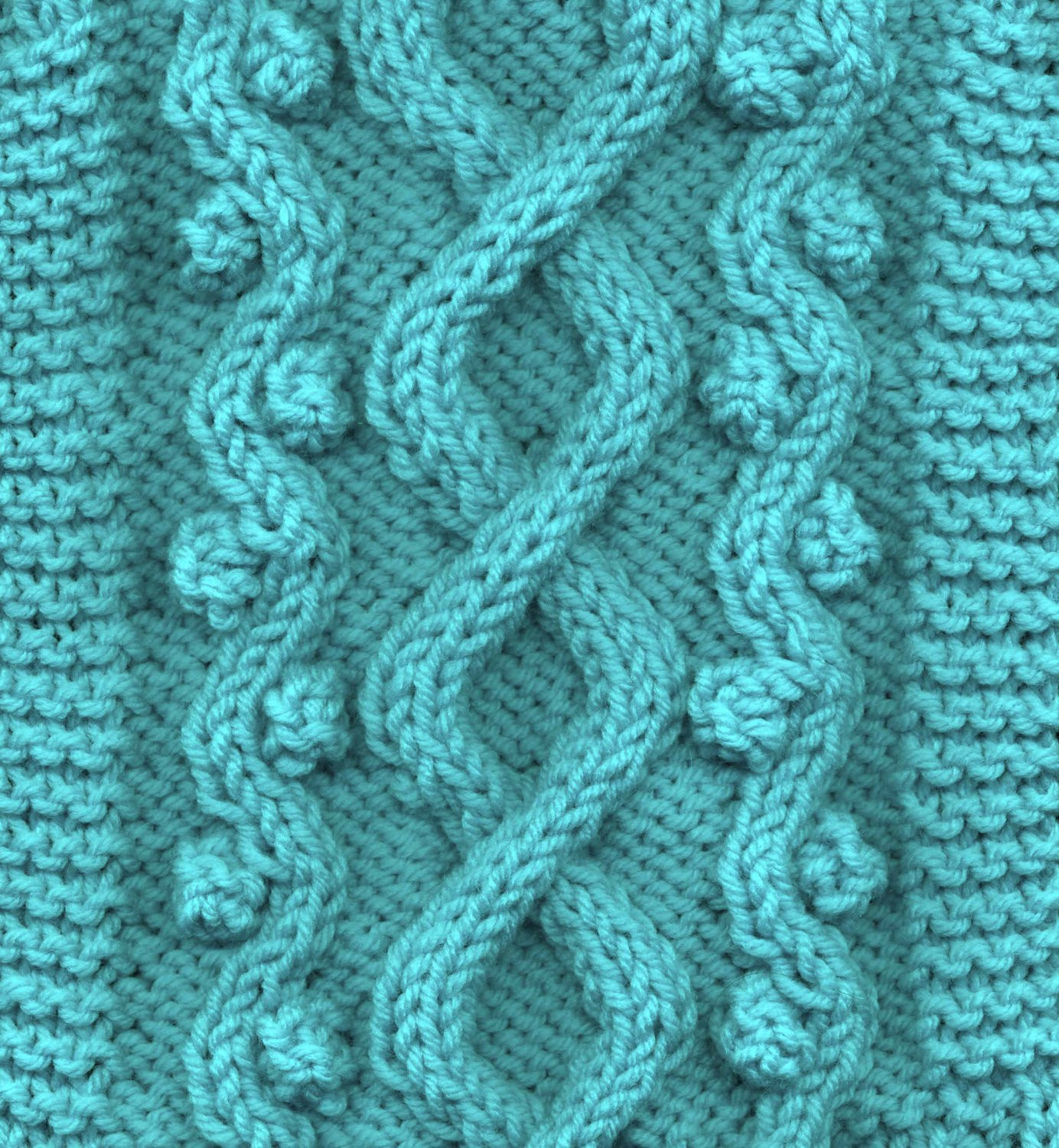 Celtic Doggie Wandering Path Cable Dog Sweater Knitting