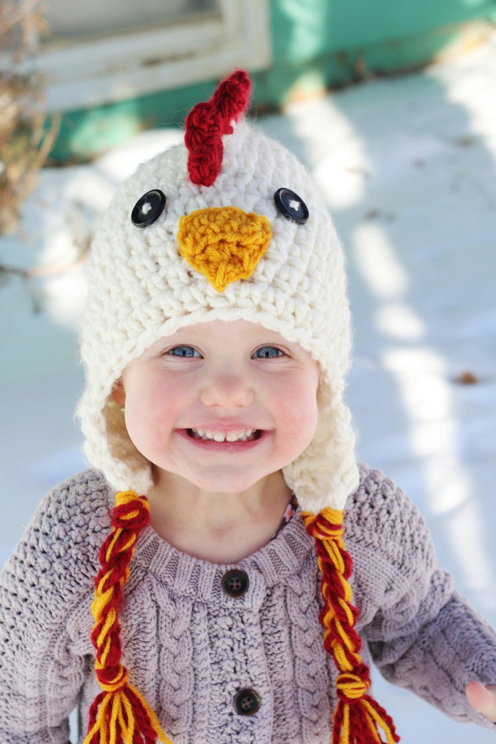 Awesome Chicken Hat Pdf Crochet Pattern Photo Prop Winter Hat Baby Chicken Hat Of Awesome Cute Baby Chickens with Hats Baby Chicken Hat