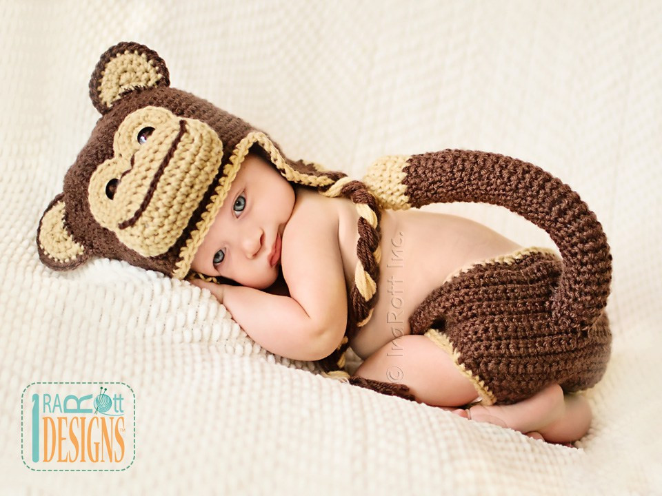 Awesome Chip the Chimpanzee Monkey Baby Hat and Diaper Cover Pdf Crochet Baby Diaper Cover Of Wonderful 48 Photos Crochet Baby Diaper Cover