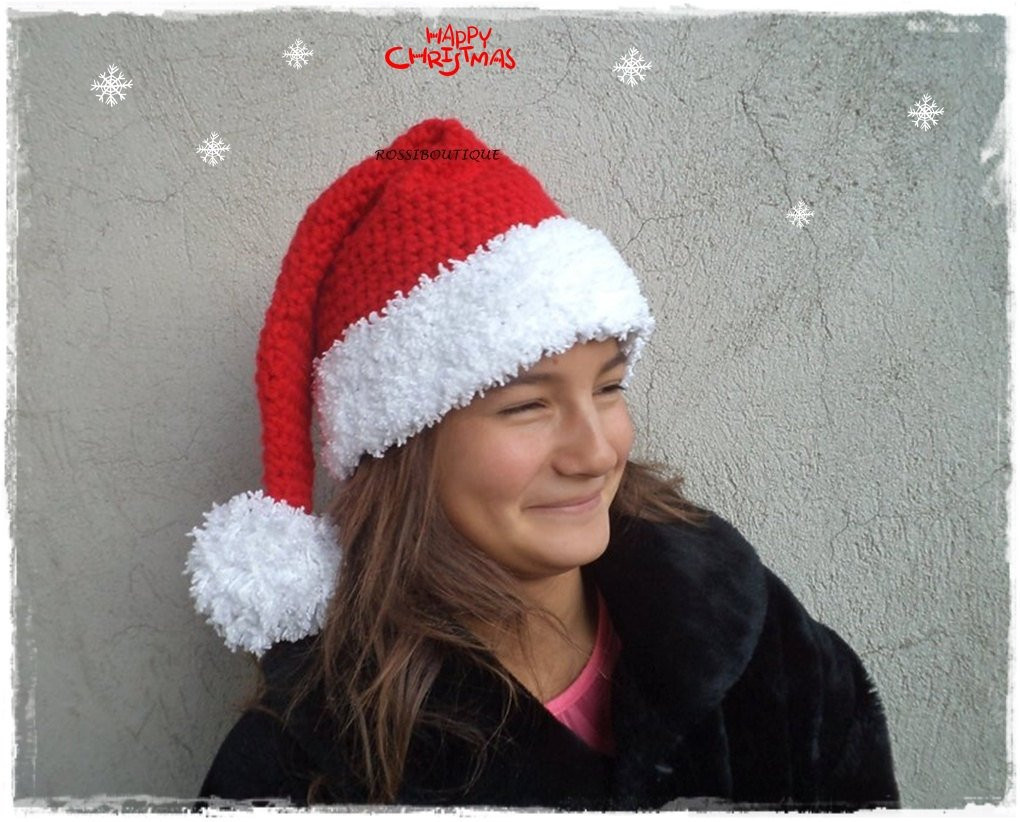Awesome Christmas Hat Crocheted Christmas Hat Crochet Santa Hat Red Crochet Christmas Hats Of Beautiful 46 Images Crochet Christmas Hats