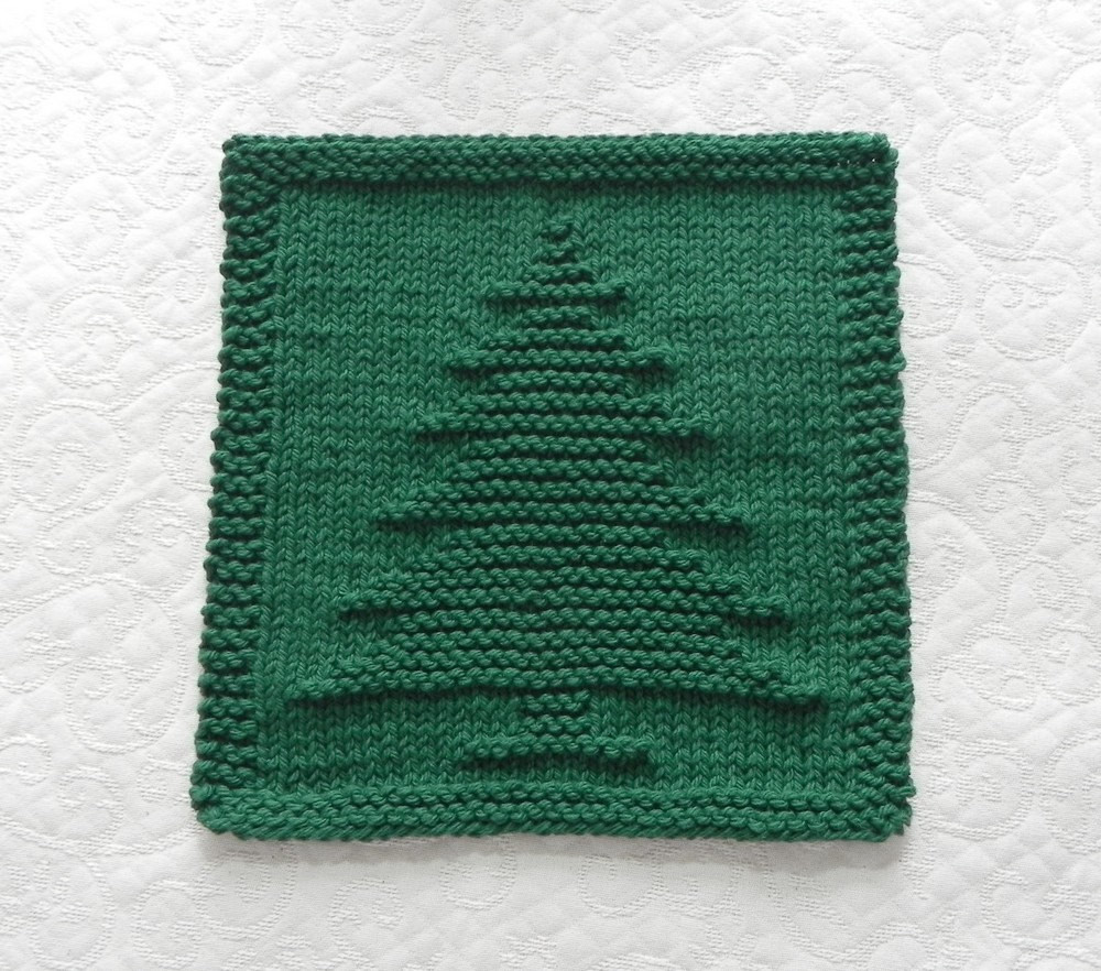 Awesome Christmas Tree Knit Dishcloth forest Green by Auntsusanscloset Knitted Dishcloth Patterns for Christmas Of Adorable 43 Pics Knitted Dishcloth Patterns for Christmas