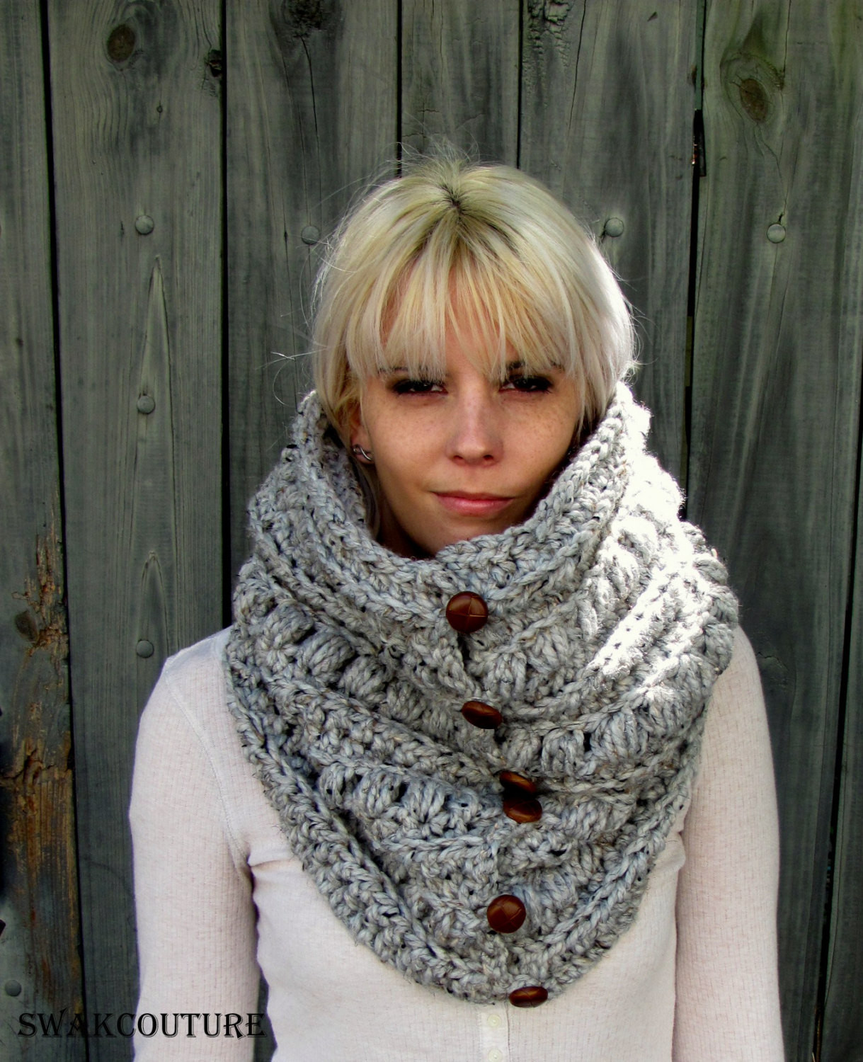 Awesome Chunky Cowl Thick Scarf Knit Cowl Gifts for Her Snood Handmade Knitted Cowl Of Brilliant 41 Models Knitted Cowl