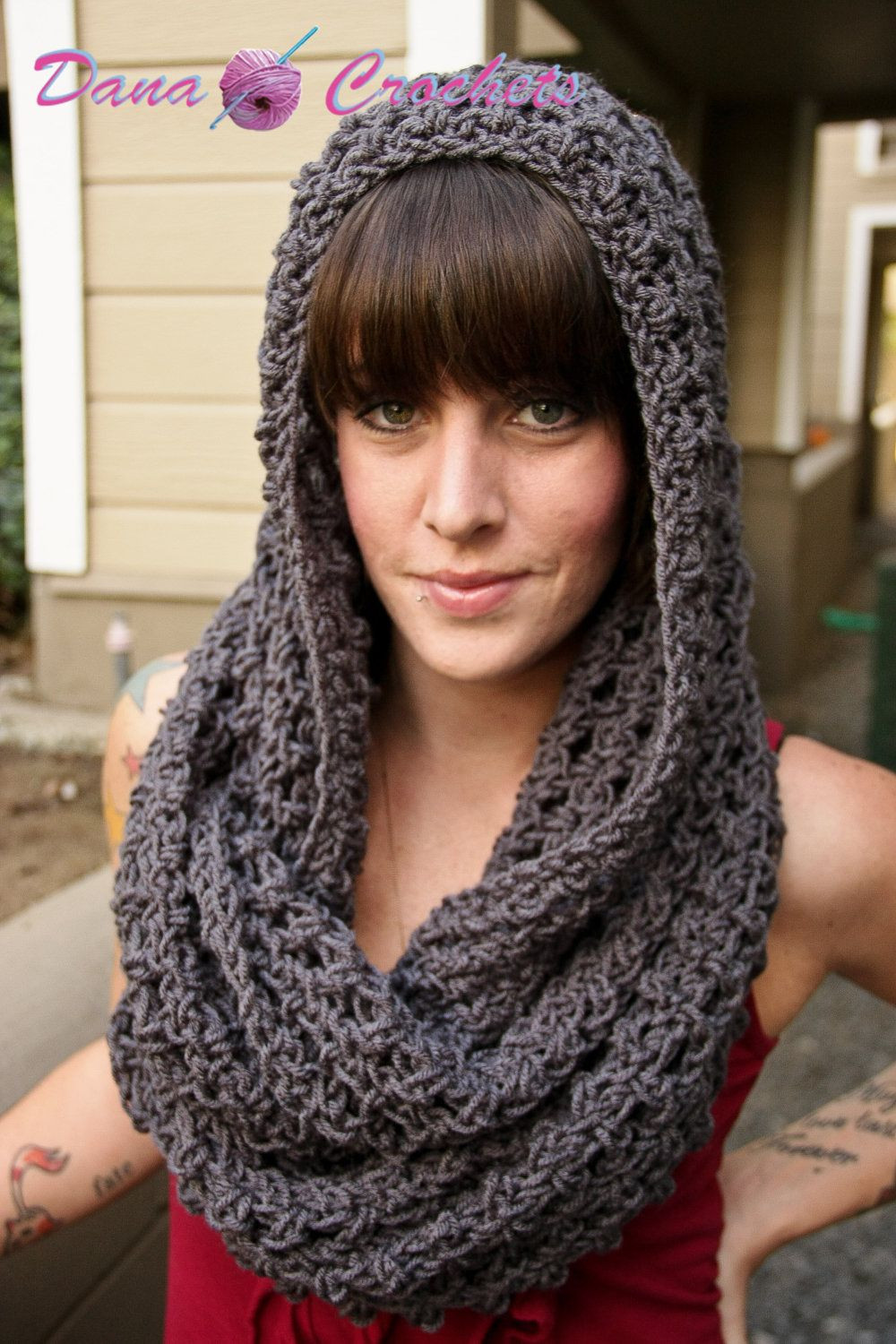 Awesome Chunky Hooded Infinity Scarf Cowl Crochet by Crochet Cowl Scarf Pattern Of Superb 47 Pics Crochet Cowl Scarf Pattern