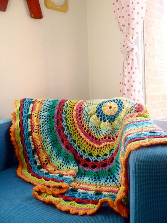 Awesome Circle Blanket Tropical Crochet Circle Blanket Of Innovative 46 Models Crochet Circle Blanket