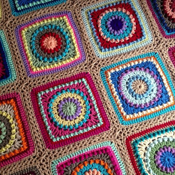 Awesome Circles Free Pattern and Blankets On Pinterest Crochet Circle Blanket Pattern Of Brilliant 42 Pictures Crochet Circle Blanket Pattern
