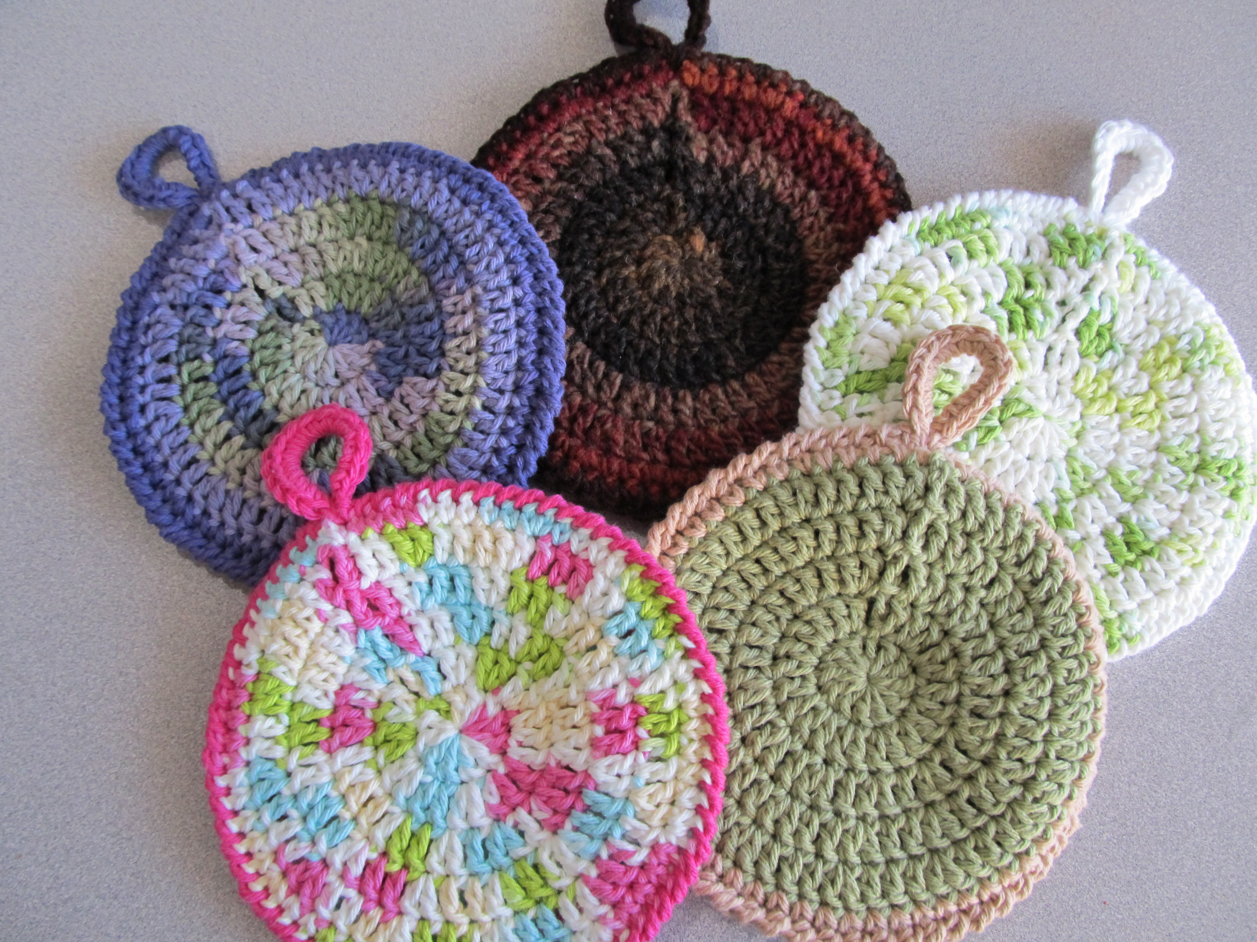 Awesome Circular Potholders Double Crochet Circle Pattern Of Charming 50 Pics Double Crochet Circle Pattern