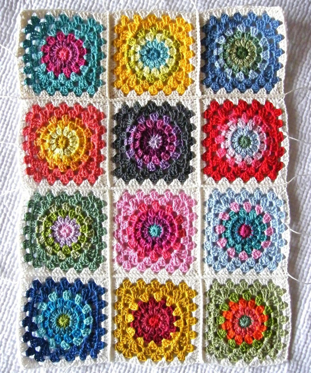 Awesome Color Wheel Crochet Granny Squares Crochet Afghan Squares Of Gorgeous 46 Pics Crochet Afghan Squares