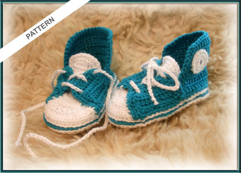 Converse Baby Shoes Crochet pattern Baby Slippers Baby