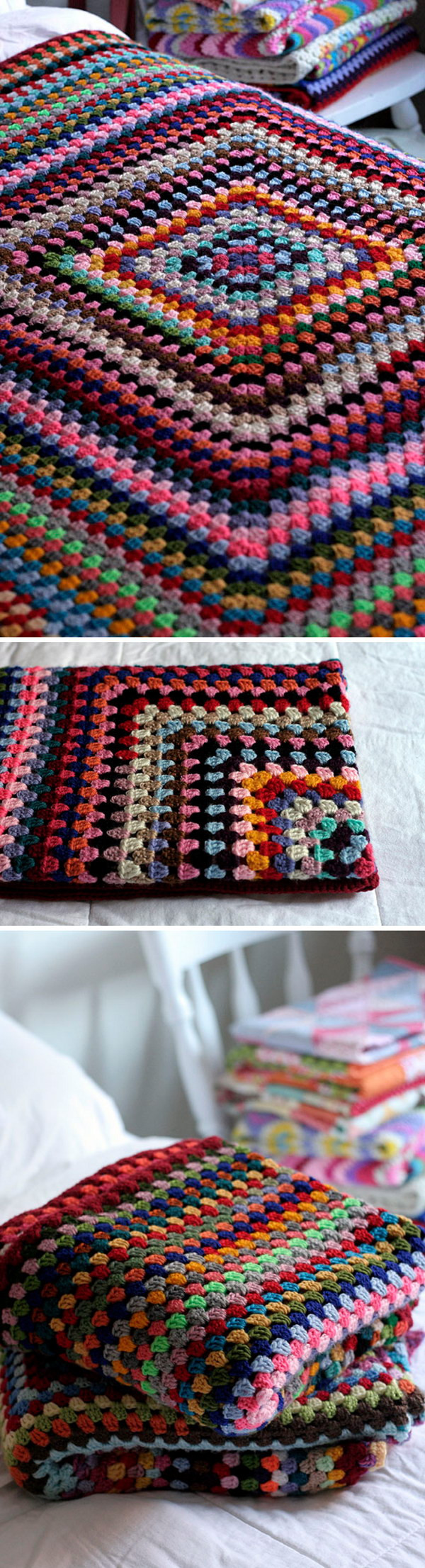 Awesome Cool & Easy Crochet Blankets with Lots Of Tutorials and Easy Granny Square Baby Blanket Pattern Of Fresh 46 Ideas Easy Granny Square Baby Blanket Pattern