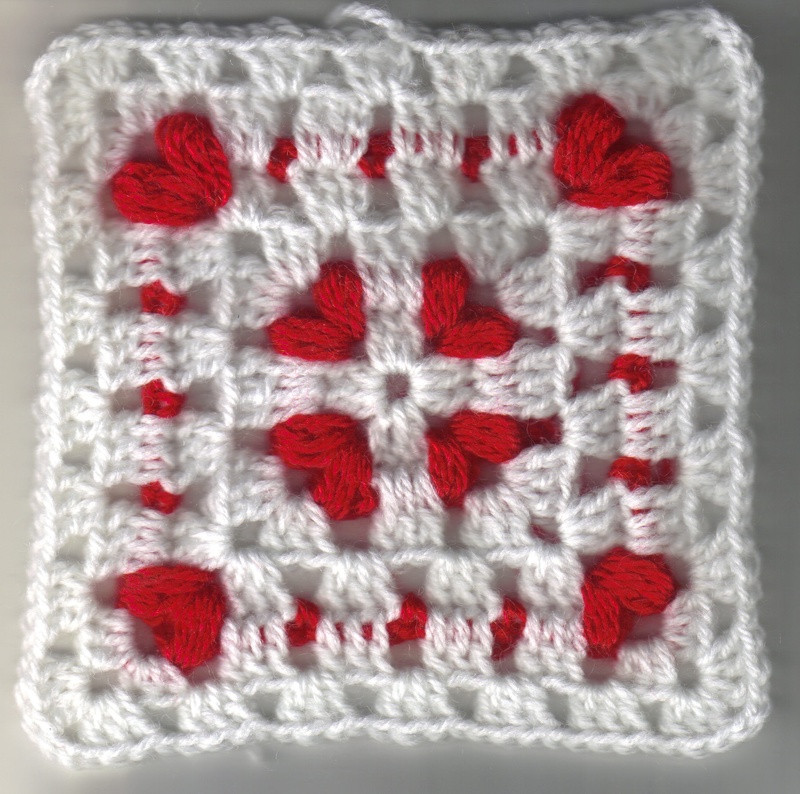 Awesome Cornered Hearts Square Heart Granny Square Of Brilliant 41 Pictures Heart Granny Square