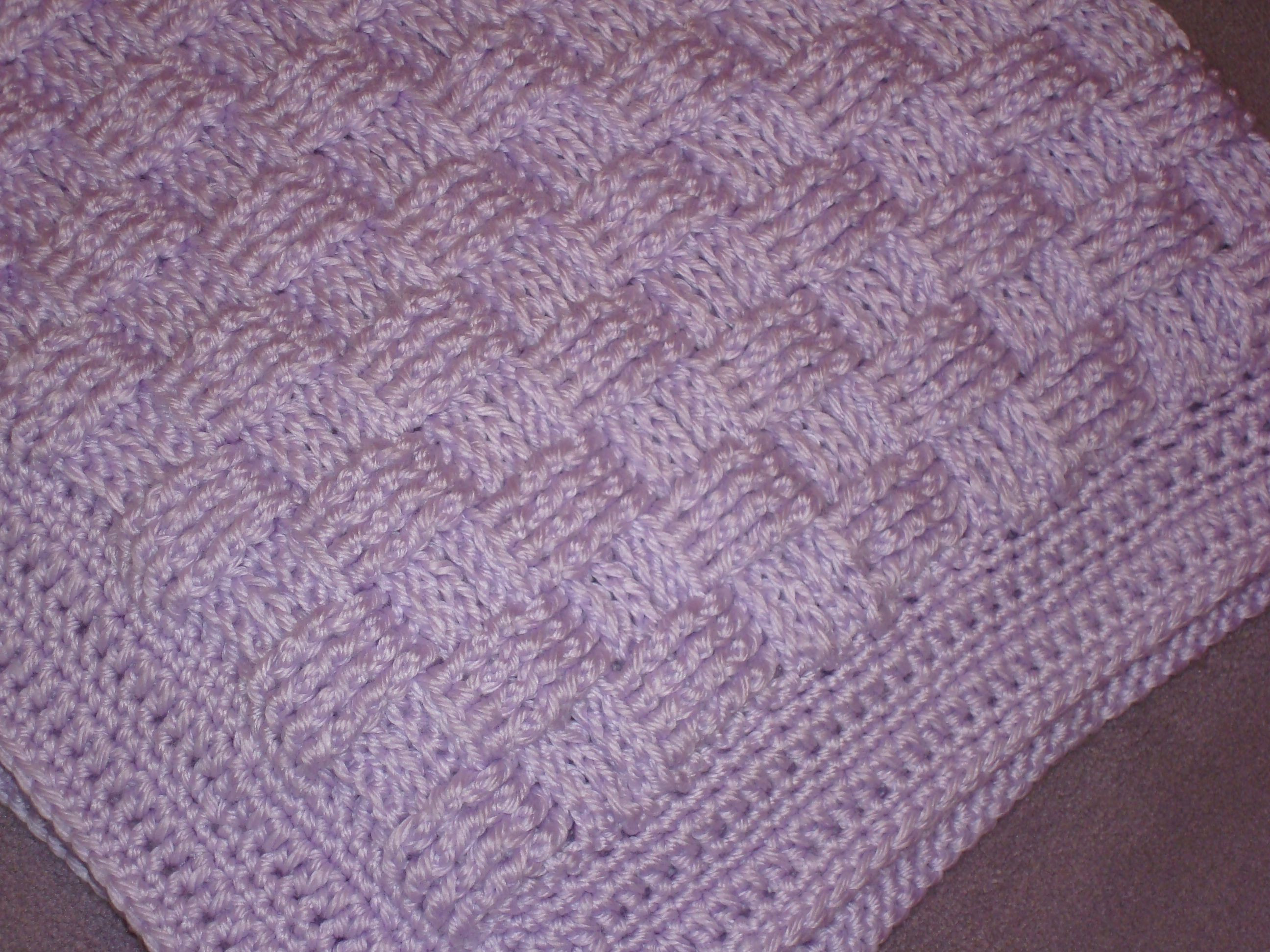 Cousin Crystal s Crocheted Basket Weave Baby Blanket