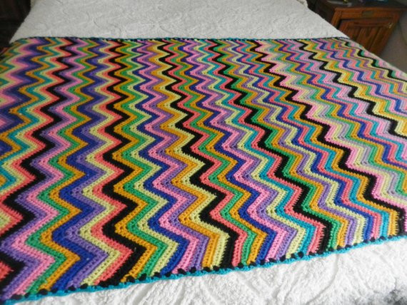 Awesome Crochet Afghan Pattern Zig Zag Pakbit for Zig Zag Crochet Afghan Pattern Of New 43 Pics Zig Zag Crochet Afghan Pattern