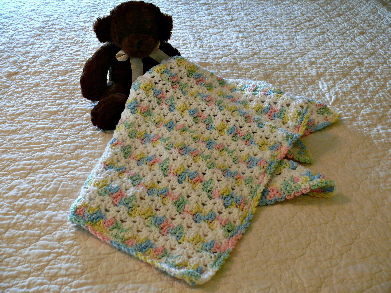 Awesome Crochet Afghan Patterns with Variegated Yarn Pakbit for Variegated Yarn Baby Blanket Pattern Of Delightful 44 Ideas Variegated Yarn Baby Blanket Pattern