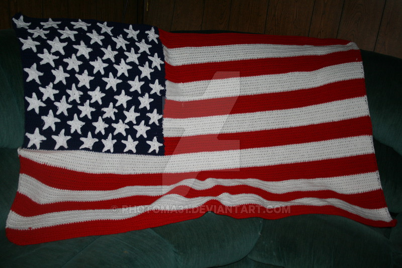 Awesome Crochet American Flag Afghan by Photoma31 On Deviantart Free American Flag Crochet Pattern Of Delightful 50 Pictures Free American Flag Crochet Pattern