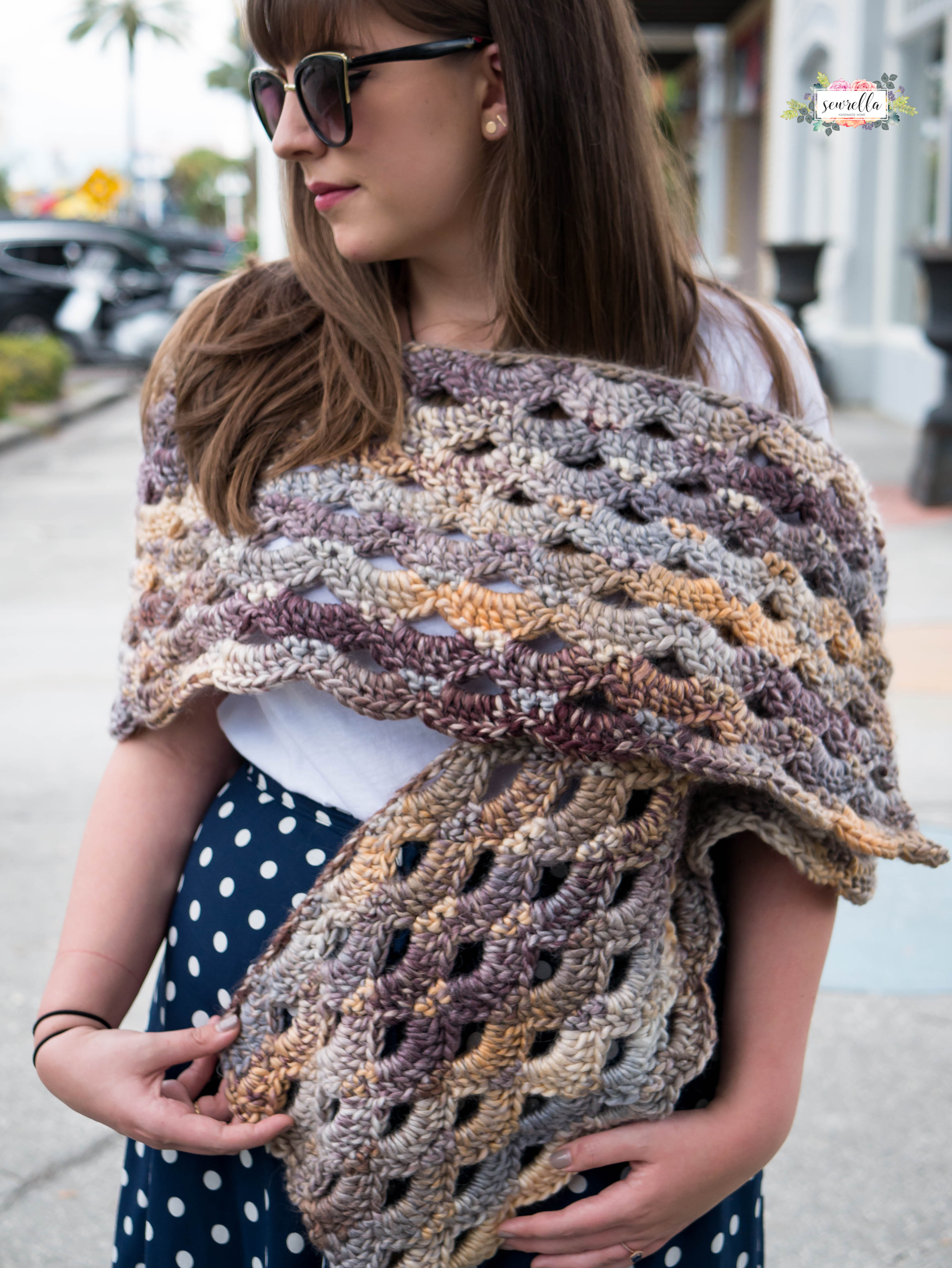 Awesome Crochet Amethyst Wrap Sewrella Red Heart Evermore Of New 22 Ideas Red Heart Evermore