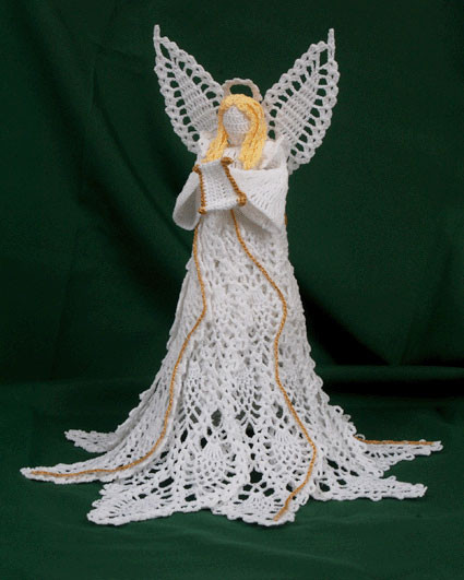 Awesome Crochet Angel Patterns Hallowed Pineapple Seraph Crochet Angel Tree topper Of Charming 43 Ideas Crochet Angel Tree topper