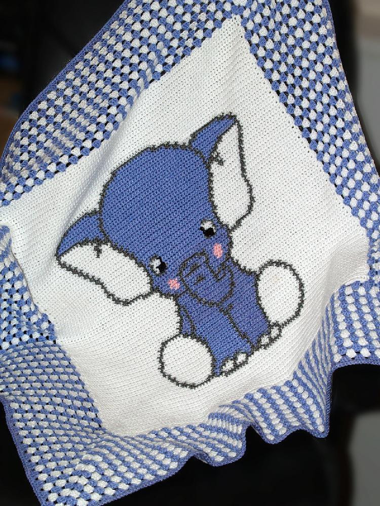 Awesome Crochet Baby Blanket Afghan Blue Elephant Crochet Elephant Baby Blanket Crochet Pattern Of Lovely 43 Pics Elephant Baby Blanket Crochet Pattern