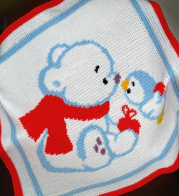 Awesome Crochet Baby Blanket Pattern Bear and Penguin Crochet Penguin Baby Blanket Of Amazing 48 Ideas Penguin Baby Blanket