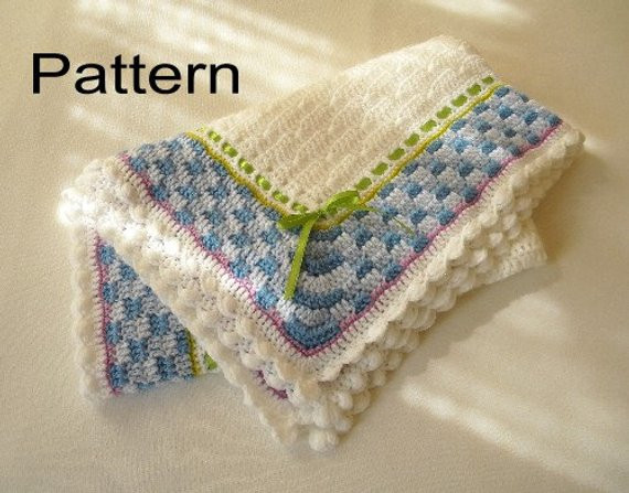 Awesome Crochet Baby Blanket Pdf Pattern Boy or Girl Basket Weave Basket Weave Crochet Baby Blanket Of Brilliant 46 Photos Basket Weave Crochet Baby Blanket