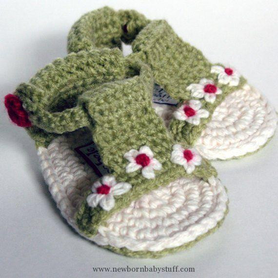 Awesome Crochet Baby Booties Items Similar to Baby Daisy Gladiator Crochet Baby Items Of Marvelous 40 Pictures Crochet Baby Items