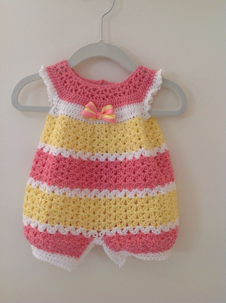 Awesome Crochet Baby Dress Crochet Infant Romper 0 3 Months Baby Free Crochet Patterns for toddlers Of Brilliant 47 Photos Free Crochet Patterns for toddlers