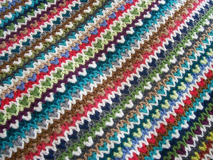 Crochet between worlds Free Pattern Boho Chic Blanket