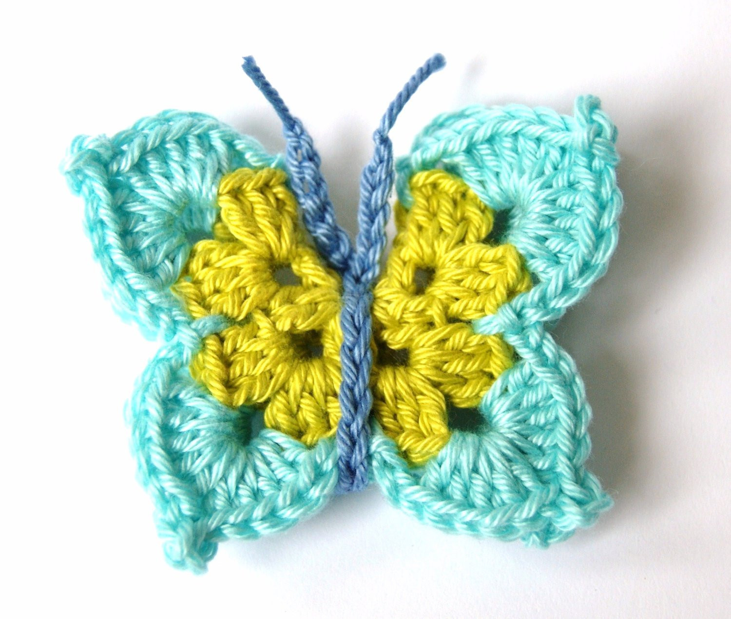 Awesome Crochet butterfly Applique by Sympaticoshop On Etsy Free Crochet butterfly Pattern Of Unique 45 Ideas Free Crochet butterfly Pattern