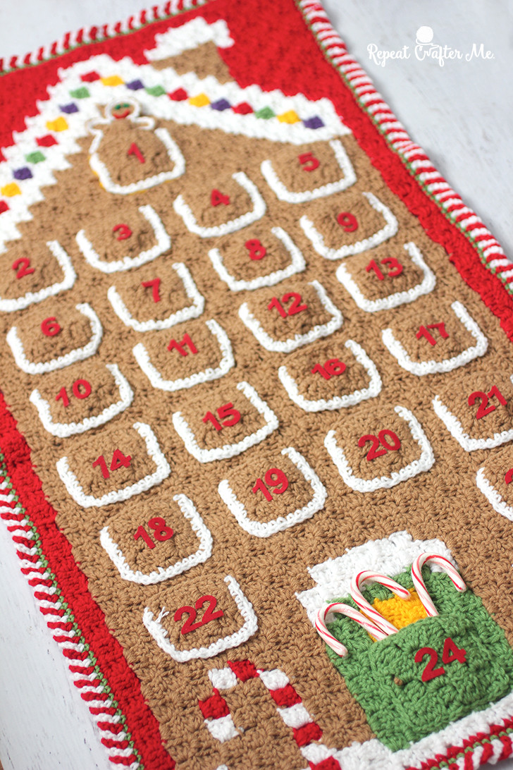 Awesome Crochet C2c Gingerbread House Advent Calendar Repeat Crochet Advent Calendar Of Fresh 48 Models Crochet Advent Calendar