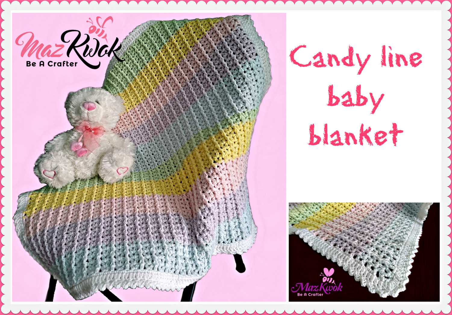 Awesome Crochet Candy Line Baby Blanket Crochet Baby Blanket Light Weight Yarn Crochet Patterns Of Awesome 40 Pics Light Weight Yarn Crochet Patterns