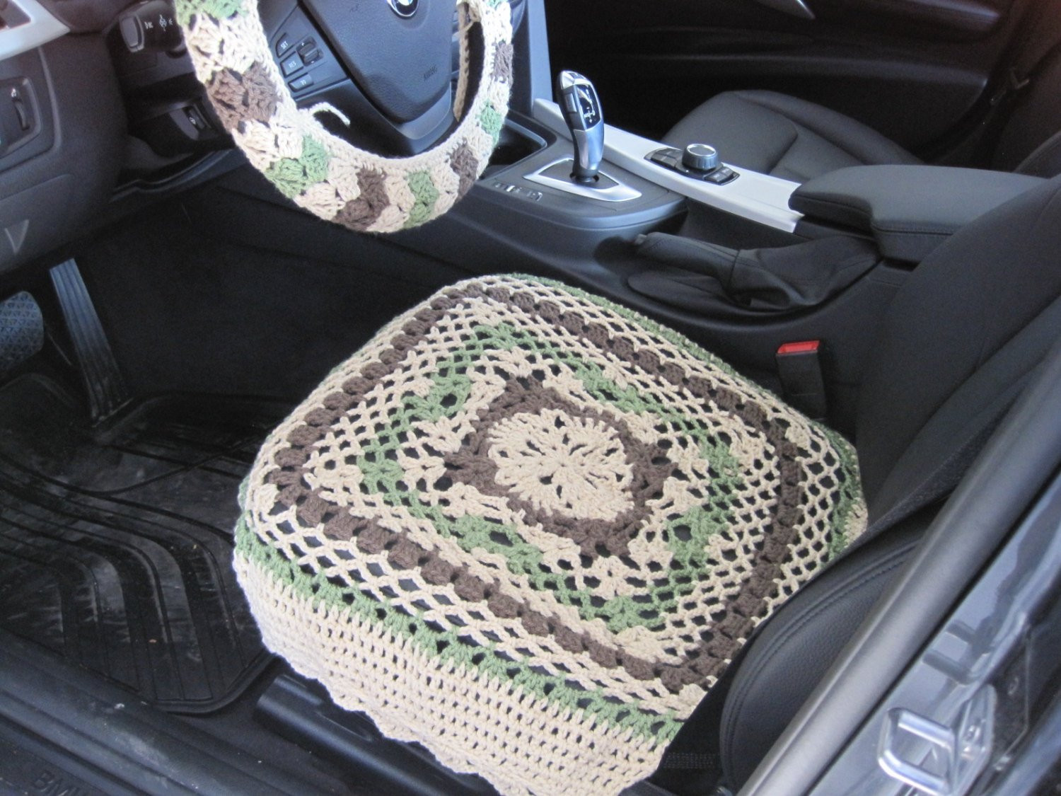 Awesome Crochet Car Front Seat Cover Oatmeal Tea Leaf Taupe Heather Crochet Seat Cover Of Beautiful Crochet Car Front Seat Cover Aran Grey Heather Ccfsc1a Crochet Seat Cover