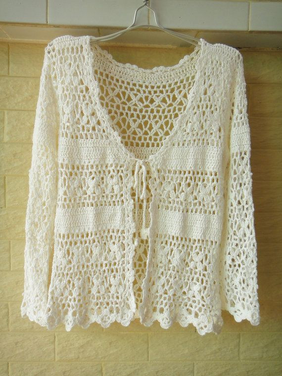 Awesome Crochet Cardigan Long Sleeve White Womens by White Crochet Sweater Of Wonderful 44 Ideas White Crochet Sweater