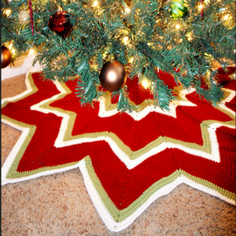 Awesome Crochet Christmas Decorations 5 Crochet Christmas Tree Crochet Tree Skirt Of Innovative 45 Ideas Crochet Tree Skirt
