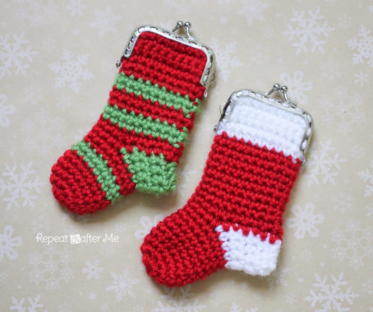 Awesome Crochet Christmas Stocking Coin Purse Pattern Repeat Crochet Christmas Stockings Of Contemporary 48 Pics Crochet Christmas Stockings