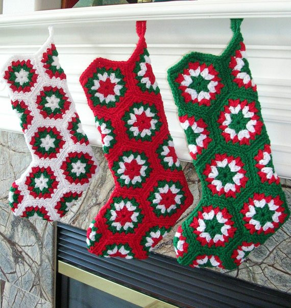 Awesome Crochet Christmas Stocking Granny Square by Bernoullisattic Granny Square Christmas Stocking Crochet Pattern Of Amazing 44 Pics Granny Square Christmas Stocking Crochet Pattern