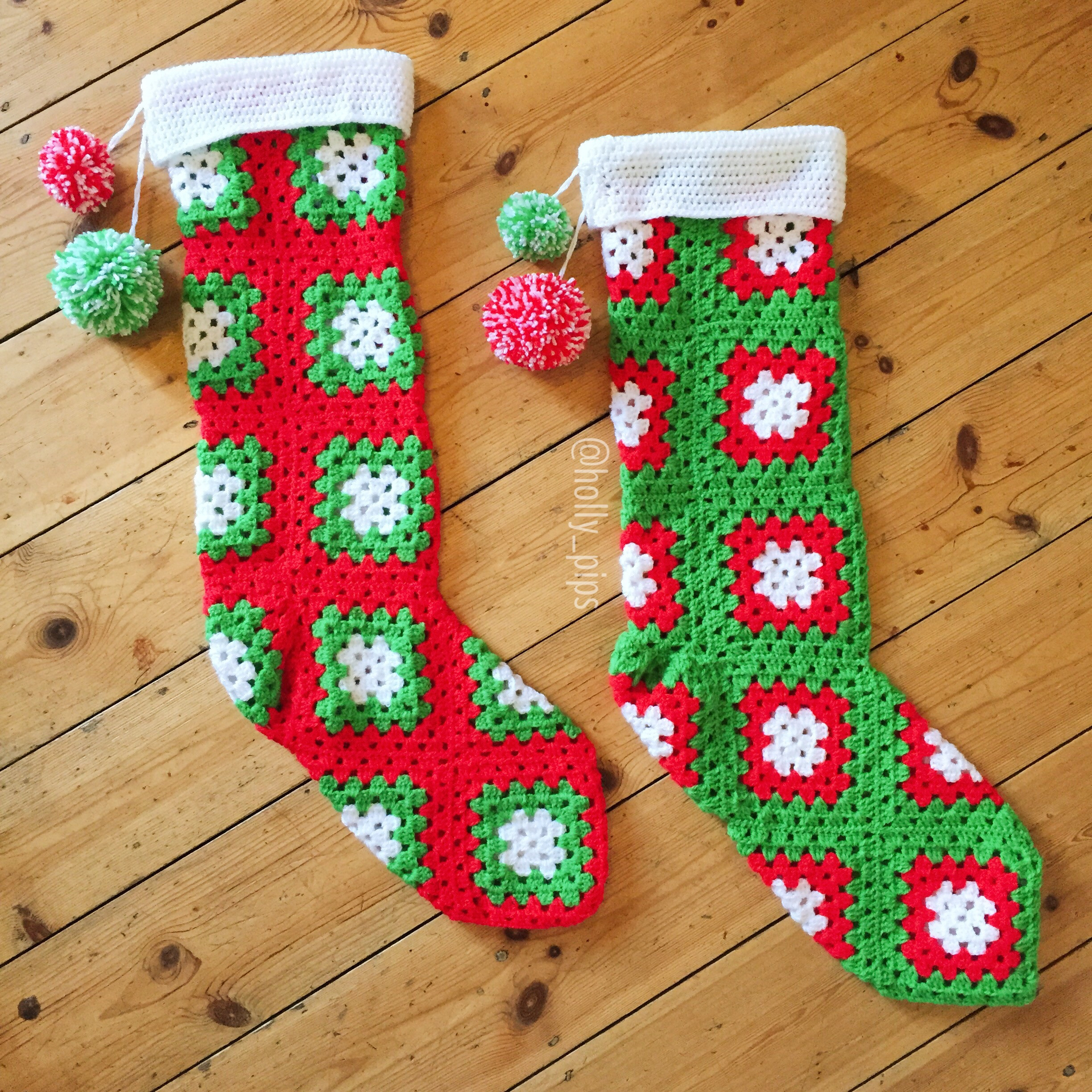 Awesome Crochet Christmas Stockings – Hollypips Crochet Christmas Stockings Of Contemporary 48 Pics Crochet Christmas Stockings